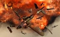 German Heinkel Bomber Plane Exploding by Mark Stevenson - various sizes - $47.99