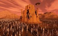 Martians Gathering by Mark Stevenson - various sizes