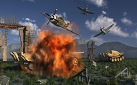 P-47 Thunderbolts Attacking by Mark Stevenson - various sizes