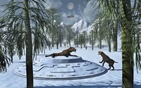 Sabre-Tooth Tigers and UFO's by Mark Stevenson - various sizes