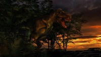 Tyranosaurus Rex in a Forest by Philip Brownlow - various sizes