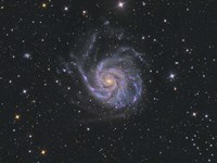 Messier 101, Pinwheel Galaxy Fine Art Print