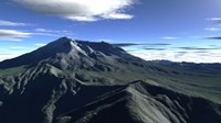 Terragen Render of Mt St Helens Fine Art Print