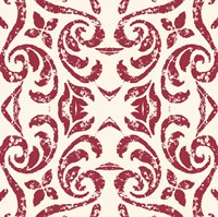 Damask Red Fine Art Print