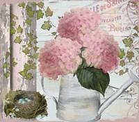 Chalet d ete Hydrangea Fine Art Print