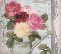 Chalet d ete roses Fine Art Print