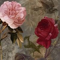 Bird and Roses I Framed Print
