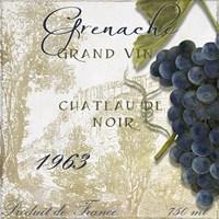 Grand Vin Grenache Framed Print