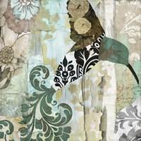 Hummingbird Batik I Fine Art Print