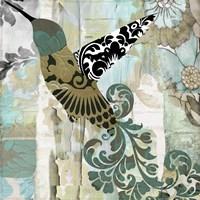 Hummingbird Batik II Fine Art Print