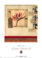 Eastern Garden III Framed Print
