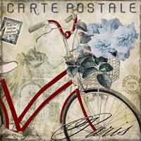 Postale Paris II Fine Art Print