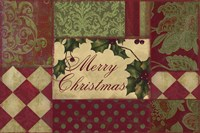 Merry Christmas Patchwork I by Color Bakery - various sizes