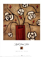 """Red Vase Two by Maria Eva - 19"""" x 26"""""""