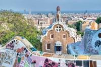 Park Guell Terrace, Barcelona, Spain Fine Art Print