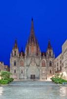 Gothic Quarter, Barcelona Cathedral, Barcelona, Spain Fine Art Print