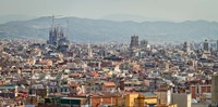 Spain, Barcelona The cityscape viewed from the Palau Nacional Fine Art Print