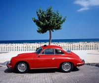 Porsche 356 on the beach, Altea, Alicante, Costa Blanca, Spain by Walter Bibikow - various sizes