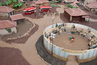 Spain Tenerife, Pueblo Chico, park wrestling by Cindy Miller Hopkins - various sizes, FulcrumGallery.com brand