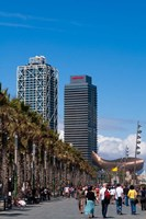 Hotel Arts and Mapfre Tower, La Barceloneta Beach, Barcelona, Spain by Sergio Pitamitz - various sizes