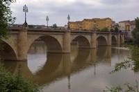 Bridge over Rio Ebro in Logrono, La Rioja, Spain Fine Art Print