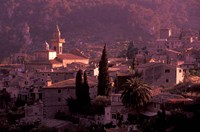 View of Town and Cartuja de Valledemossa, Mallorca, Balearics, Spain by Walter Bibikow - various sizes