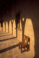 Bellver Castle Chair and Arches, Palma de Mallorca, Balearics, Spain by Walter Bibikow - various sizes