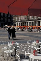 Cafe Tables in Plaza Mayor, Madrid, Spain Fine Art Print