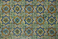Moorish Mosaic Azulejos (ceramic tiles), Casa de Pilatos Palace, Sevilla, Spain Fine Art Print