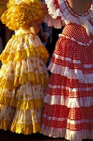 Colorful Flamenco Dresses at Feria de Abril, Sevilla, Spain Fine Art Print