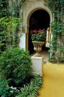 Planter and Arched Entrance to Garden in Casa de Pilatos Palace, Sevilla, Spain by John & Lisa Merrill - various sizes