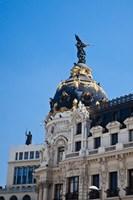 Spain, Madrid Metropolis building on Grand Via Fine Art Print