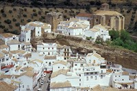 Whitewashed Village with Houses in Cave-like Overhangs, Sentenil, Spain by John & Lisa Merrill - various sizes, FulcrumGallery.com brand