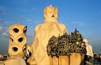 Antonio Gaudi's La Pedrera, Casa Mila, Barcelona, Spain Fine Art Print