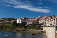 Spain, San Vicente de la Barquera, Town View by Walter Bibikow - various sizes