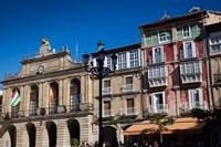 Spain, La Rioja, Haro, Plaza de la Paz, Buildings by Walter Bibikow - various sizes - $44.49
