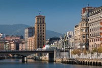 Riverfront Buildings, Bilbao, Spain by Walter Bibikow - various sizes