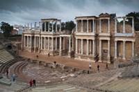 Spain, Extremadura, Badajoz, Merida, Roman Theater by Walter Bibikow - various sizes