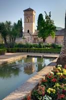 The Generalife Gardens in the Alhambra grounds, Granada, Spain Fine Art Print