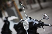 Black Vespa, Madrid, Spain Fine Art Print