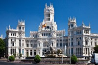Cibeles Palace is located on the Plaza de Cibeles in Madrid, Spain by Julie Eggers - various sizes