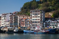 Commercial Fishing Port, Village of Pasai San Pedro, Spain by Walter Bibikow - various sizes