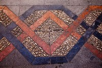 Spain, Andalusia, Malaga Province, Ronda Decorative Tile Floor by Julie Eggers - various sizes