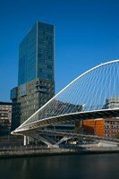 Spain, Bilbao, Zubizuri Bridge over Rio de Bilbao by Walter Bibikow - various sizes