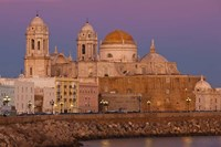 Spain, Cadiz, Cathedral, Dusk by Walter Bibikow - various sizes