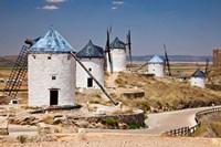 Spain, Castile-La Mancha, Toledo, Consuegra La Mancha windmills by Julie Eggers - various sizes