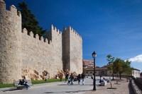 Spain, Castilla y Leon, Avila, Las Murallas, Walls by Walter Bibikow - various sizes
