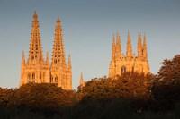 Spain, Castilla y Leon, Burgos Cathedral, Dawn by Walter Bibikow - various sizes