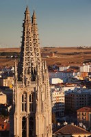Spain, Castilla y Leon, Burgos Cathedral, Sunset by Walter Bibikow - various sizes