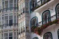 Spain, Castro-Urdiales, Harborfront Buildings by Walter Bibikow - various sizes